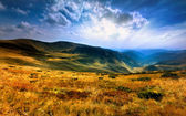 Panorama of the Carpathian Mountains — Stock Photo