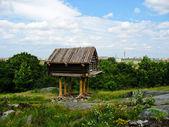 Velha cabana no parque skansen — Foto Stock
