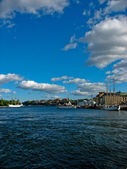 Stockholm harbour and Baltic Sea — Stock Photo