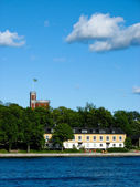 Swedish island and castle — Stok fotoğraf