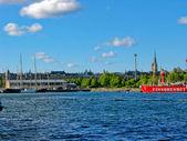 Porto di stoccolma e il mar baltico — Foto Stock