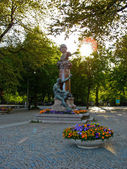 Erikson statue in Stockholm (Sweden) — Stock Photo