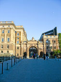 Buildings and entrance in Stockholm (Sweden) — Stock Photo