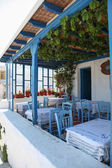 Terrace on Paros island — Stock Photo