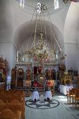 Inside an orthodox church — Stock Photo