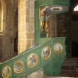 Locronan and church interior in Brittany — Foto Stock