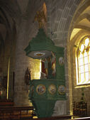 Locronan and church interior in Brittany — Stock Photo