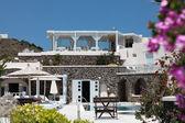 Villa on Santorini island — Stock Photo