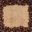 Stock Photo: Coffee bean frame