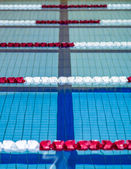 Swimming pool competition — Stock Photo