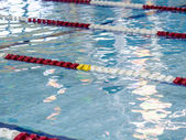 Swimming pool lane markers — Stock Photo