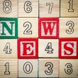 News blocks — Stock Photo