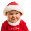 Child laughing at Christmas — Stock Photo