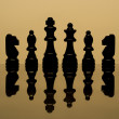 Chess banner background — Stock Photo