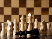 Defeated chess king — Stock Photo