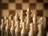 Koning van het schaakspel — Stockfoto