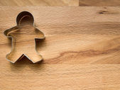 Gingerbread cookie cutter — Stock Photo