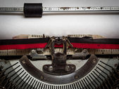 Blank paper in typewriter — Stock Photo