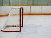 Empty hockey net — Stock Photo