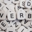 Stock Photo: Verb letters