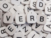 Verb letters — Stock Photo