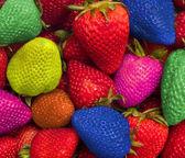 Eten van de regenboog van kleuren — Stockfoto