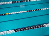 Swimming lane ropes — Stock Photo