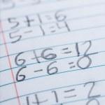 Elementary school arithmetic — Stock Photo #27245649