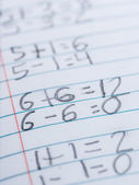 Elementary school arithmetic — Stock Photo
