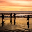 Stock Photo: Kids playing on beach