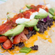 Healthy bean burrito — Stock Photo