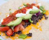 Healthy bean burrito — Stock Photo