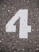 Número cuatro — Foto de Stock