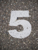 Número cinco — Foto de Stock