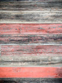 Red weathered boards — Stock Photo