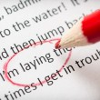 Proofreading essay errors — 图库照片
