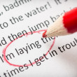 Proofreading essay errors — Stock Photo