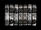 Grammar concept — Stock Photo