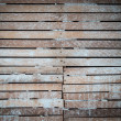Lath and plaster wall — Stock Photo