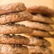 Stack of chocolate chip cookies — Stock Photo