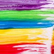 Stock Photo: Rainbow paint background