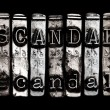 Scandal — Stock Photo
