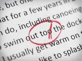 Error in English essay — Stock Photo