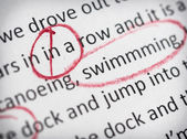 Circled spelling mistakes — Stock Photo