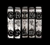 Crime word — Stock Photo