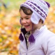Girl laughing in autumn — Stock Photo