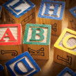 Stock Photo: ABC blocks
