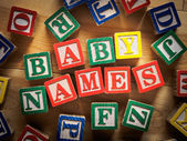 Baby names — Stock Photo
