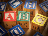 ABC blocks — Stock Photo