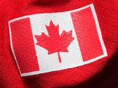 Canada flag on hockey jersey — Stock Photo